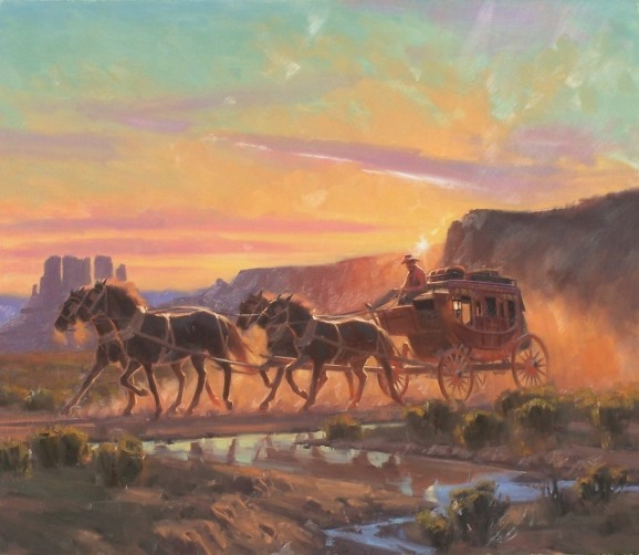 "Bound for Phoenix 31"" x 36"" oil painting by Tom Haas"