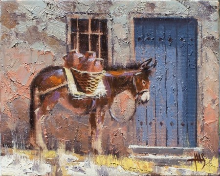 Burro Genre oil paintings