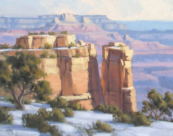 "Grand Canyon 16"" x 20"" oil painting by Tom Haas"