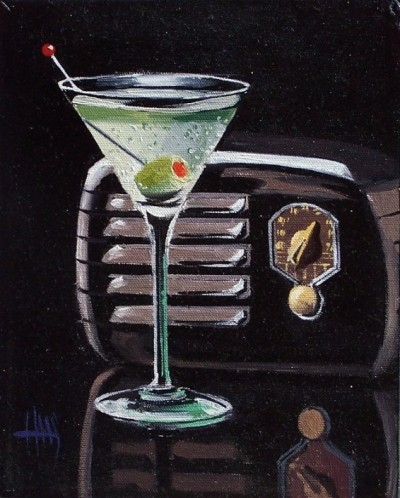 "Martini 10"" x 8"" oil painting by Tom Haas"