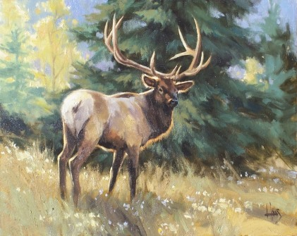 """Mountain Monarch 16"""" x 20"""" oil painting by Tom Haas"""