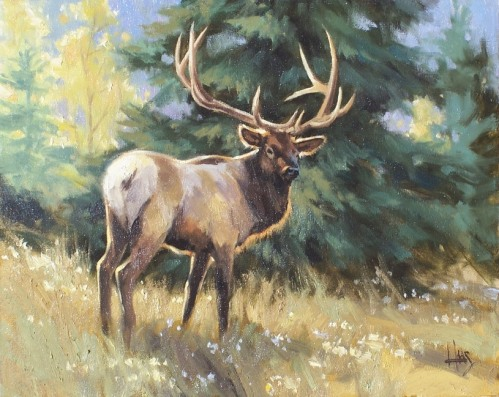 "Mountain Monarch 16"" x 20"" oil painting by Tom Haas"