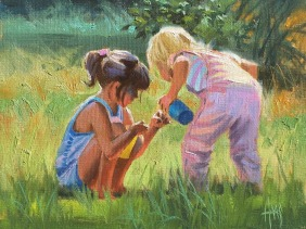 """What Iz It? 11"""" x 14"""" oil painting by Tom Haas"""