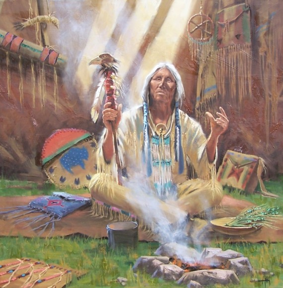 "Wisdom Seeker 36"" x 36"" oil painting by Tom Haas"