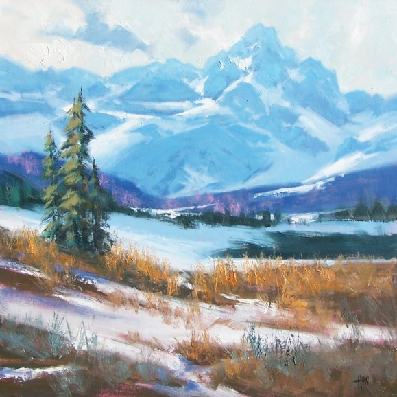 "Arapaho Basin - Colorado 30"" x 30"" oil painting by Tom Haas"