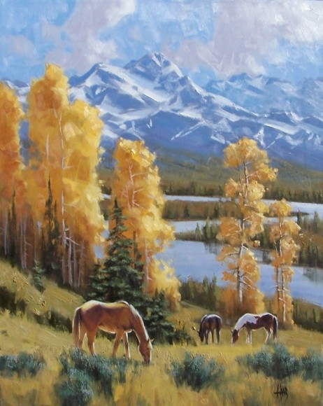 "Autumn Display 30"" x 24"" oil painting by Tom Haas"