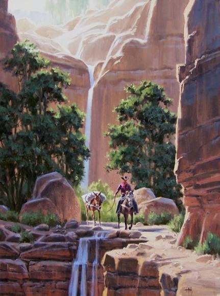 Cowboy Western oil paintings
