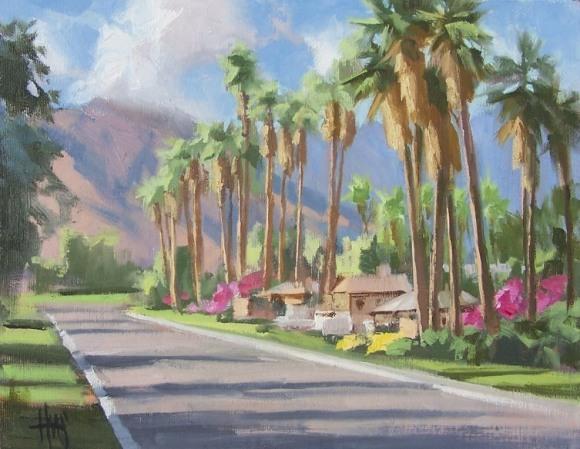 """California Plein Air 11"""" x 14"""" oil painting by Tom Haas"""