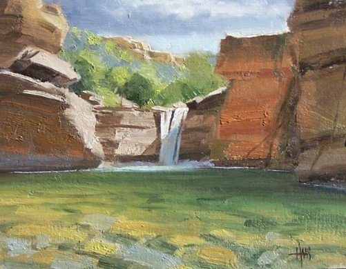"Clear Creek - Verde River, Arizona 11"" x 14"" oil painting by Tom Haas"