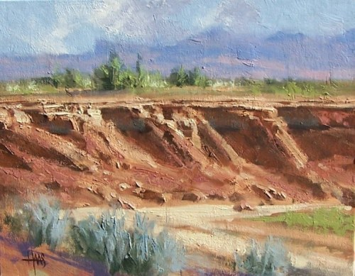 "Dry Arroyo - Arizona 11"" x 14"" oil painting by Tom Haas"