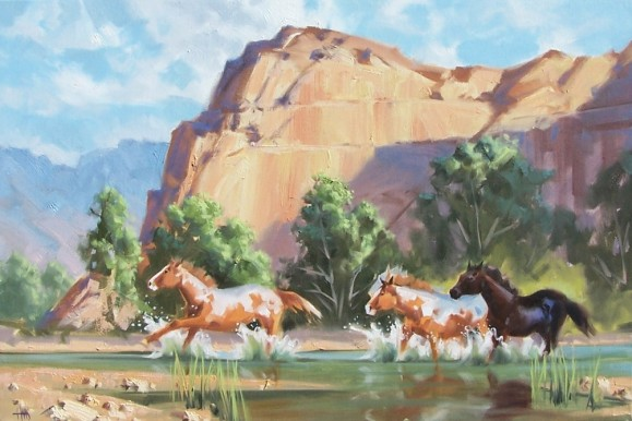 "Free Spirit - Canyon de Chelly, Arziona 24"" x 36"" oil painting by Tom Haas"