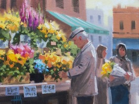 Flowers Genre oil paintings