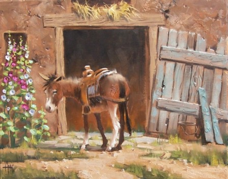 burro oil paintings