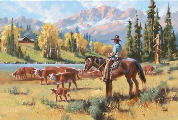 "Indian Summer 20"" x 30""oil painting by Tom Haas"