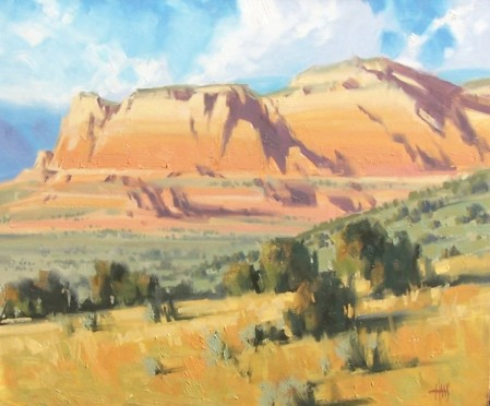 "Jackrabbit Canyon - Sedona, Arizona 20"" x 24"" oil painting by Tom Haas"