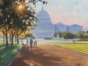Genre oil paintings Washington DC