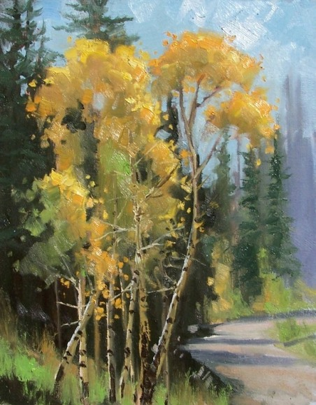 Colorado plein air landscape oil paintings