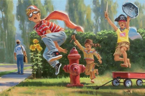 "Sugar High 20"" x 30"" oil painting by Tom Haas"