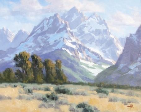Tetons landscape paintings