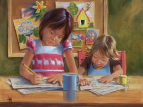 """The Tutor 16"""" x 20"""" oil painting by Tom Haas"""