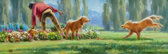 Genre oil paintings