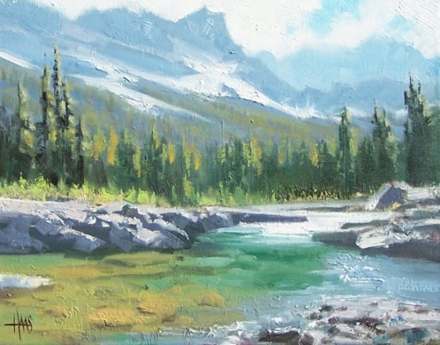 """Clear Water Creek 11"""" x 14"""" oil painting by Tom Haas"""