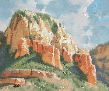 Plein air landscape oil paintings