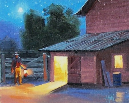 """Early to Rise 8"""" x 10"""" oil painting by Tom Haas"""