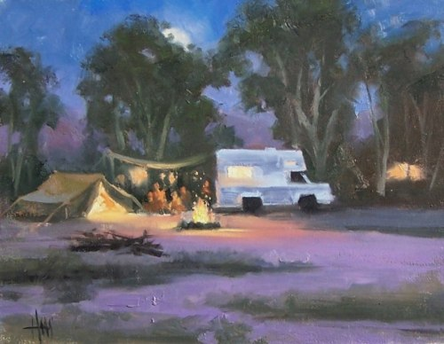 "Gypsy Camp 11"" x 14"" oil painting by Tom Haas"