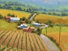 "Heartland - Colorado 16"" x 16"" oil painting by Tom Haas"