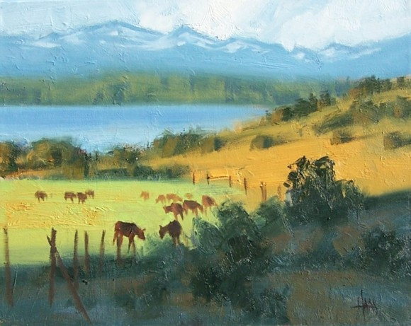 "Pastureland 11"" x 14"" oil painting by Tom Haas"