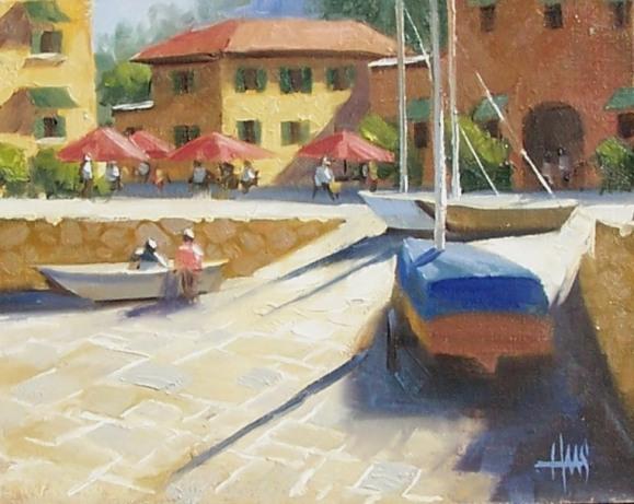 "Puerto Rustica 8"" x 10"" oil painting by Tom Haas"