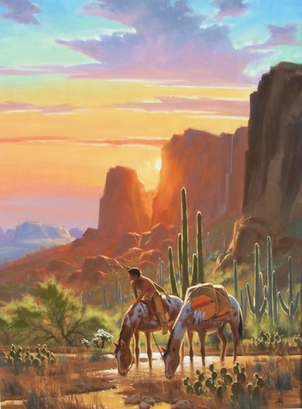 "Rio Verde 48"" x 36"" oil painting by Tom Haas"