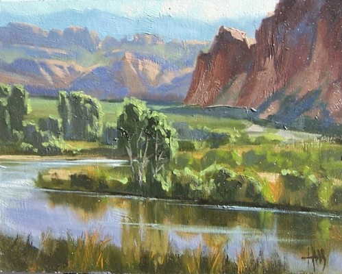 "Salt River Valley - Arizona 11"" x 14"" oil painting by Tom Haas"