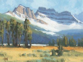 """Summer Snow - near Cameron Pass, Steamboat Springs, Colorado 11"""" x 14"""" plein air oil painting by Tom Haas"""