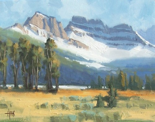 """Summer Snow - Colorado 11"""" x 14"""" oil painting by Tom Haas"""