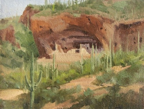 "Tonto Palace - Tonto National Monument, Arizona 11"" x 14"" oil painting by Tom Haas"