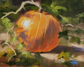 "Witch Apple 8"" x 10"" oil painting by Tom Haas"