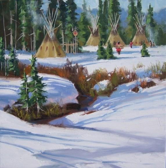 Native American Western oil paintings