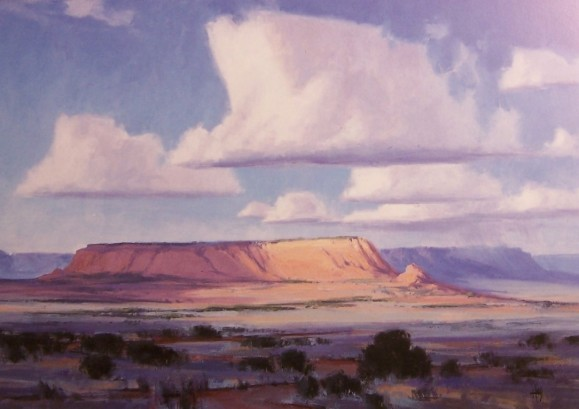 Chaco Canyon Arizona Art in Embassies landscape oil paintings