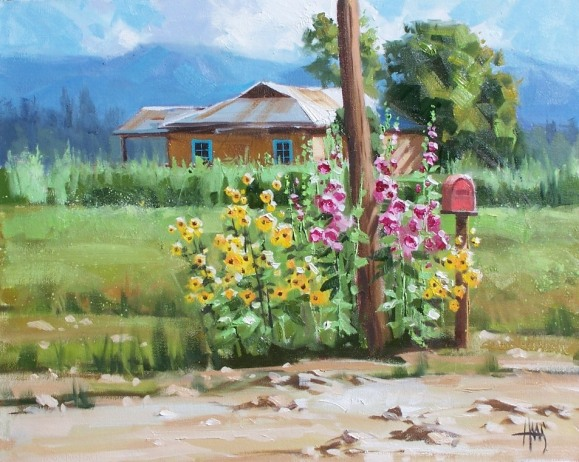 genre landscape flowers oil paintings
