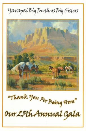 Marble Canyon Freedom oil painting by Tom Haas on Big Brothers Big Sisters catalog 2006