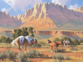 Western pastoral oil paintings