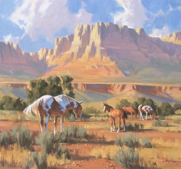 Western pastoral oil paintings