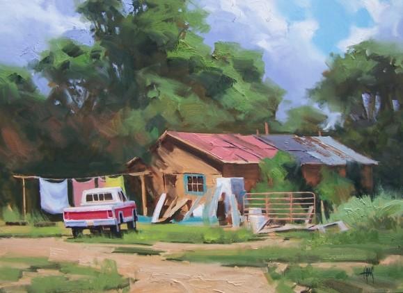 New Mexico genre landscape oil paintings