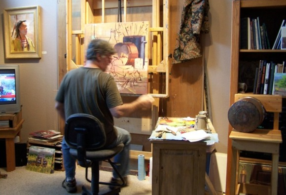 Tom Haas working on Commission 2010