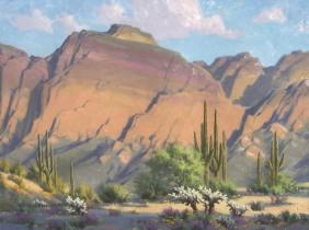 landscape bulldog canyon oil painting