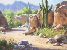 landscape plein air Arizona oil painting