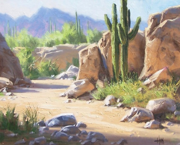 landscape plein air Arizona oil painting