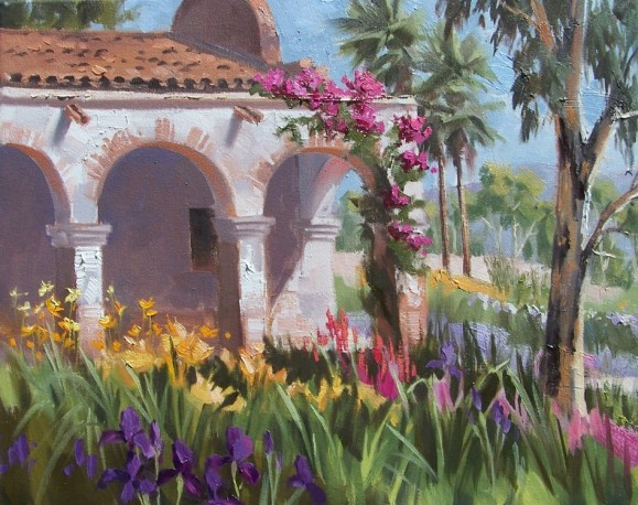 plein air landscape oil painting California